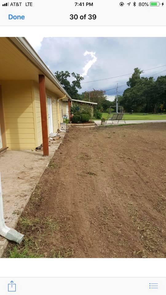 yard leveling around house
